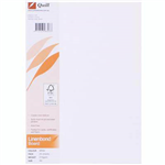QUILL LINEN BOND BOARD 216GSM A4 WHITE PACK 25