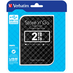 VERBATIM STORENGO USB 30 PORTABLE HARD DRIVE 2TB BLACK