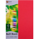 QUILL XL MULTIBOARD 210GSM A4 RED PACK 50