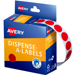 AVERY 937235 ROUND LABEL DISPENSER 14MM RED BOX 1050