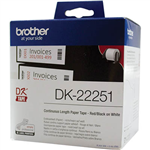 BROTHER DK22251 CONTINUOUS PAPER LABEL ROLL 62MM X 1524M WHITE