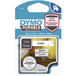 DYMO 1978364 D1 DURABLE LABEL CASSETTE TAPE 12MM X 55M BLACK ON WHITE