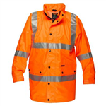 PRIME MOVER MF306 ARGYLE FULL HI VIS RAIN JACKET WITH TAPE