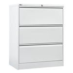 GO LATERAL FILING CABINET 3 DRAWER HEAVY DUTY 1016 X 900 X 473MM WHITE CHINA