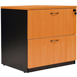 OXLEY LATERAL FILE CABINET LOCKABLE 780 X 560 X 750MM BEECHIRONSTONE