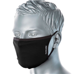 PORTWEST FABRIC FACE MASK ANTIMICROBIAL 3 PLY BLACK