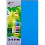 QUILL XL MULTIBOARD 210GSM A4 MARINE BLUE PACK 50