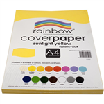 RAINBOW COVER PAPER 125GSM A4 SUNLIGHT YELLOW PACK 100