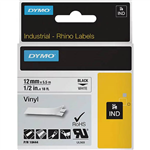 DYMO SD18444 RHINO INDUSTRIAL TAPE VINYL 12MM BLACK ON WHITE